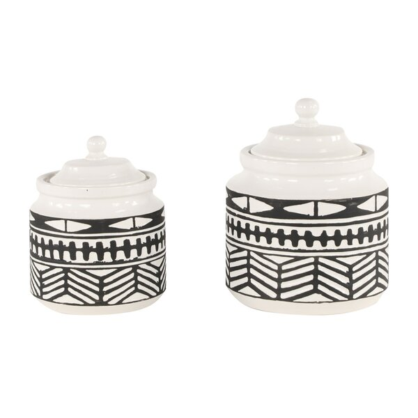 Diehl Ceramic 2 Piece Jars Set by Union Rustic