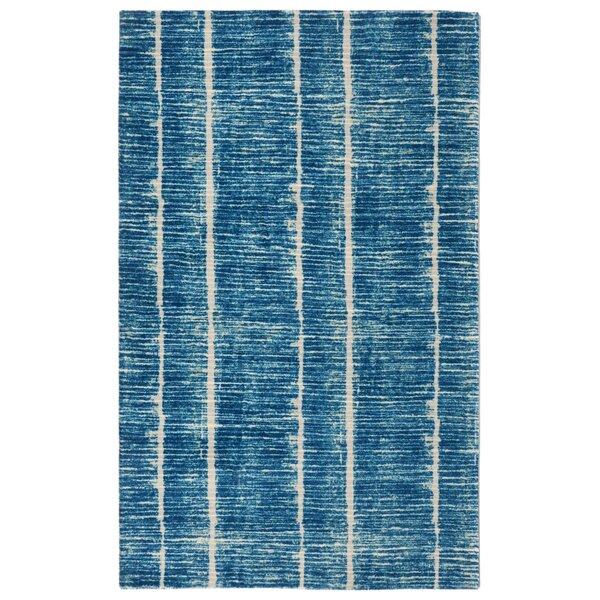 Noél Contemporary Modern Blue Area Rug by Highland Dunes
