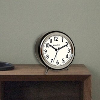 Round Ascending Analog Alarm Clock by Orren Ellis