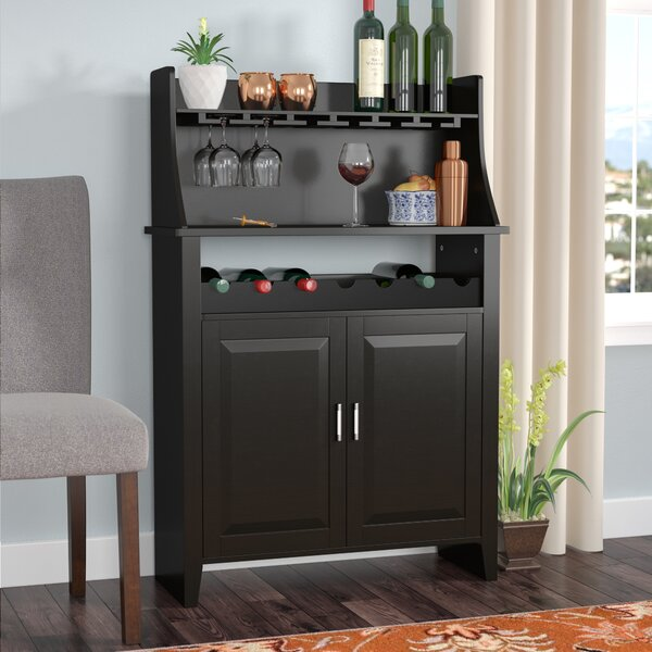 Octavius 6 Bottle Bar With Wine Storage By Andover Mills