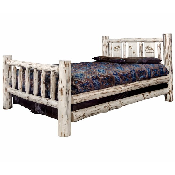 Antigo Laser Engraved Moose Standard Bed By Millwood Pines by Millwood Pines Bargain