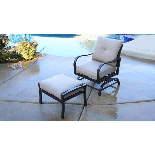 St Annes Patio Chair with Cushions and Ottoman by Red Barrel Studio