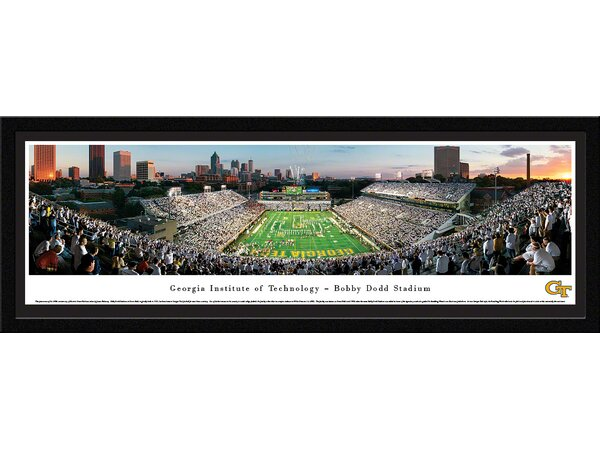 NCAA Georgia Tech by James Blakeway Framed Photographic Print by Blakeway Worldwide Panoramas, Inc