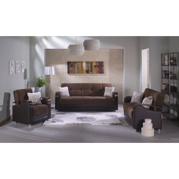 Luna 3 Piece Living Room Set by Orren Ellis