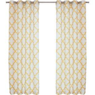 fancy plush design moorish tile curtain. Save to Idea Board Yellow  Gold Drapes Valance Sets You ll Love Wayfair