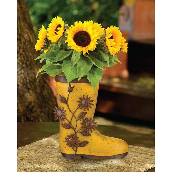 Rustic Boot Metal Pot Planter by Regal Art & Gift