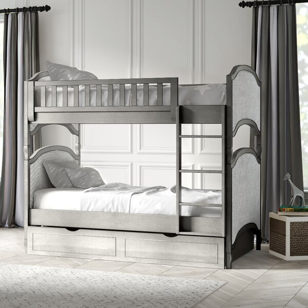 Burks Twin Over Twin Bunk Bed with Trundle by Kitsco