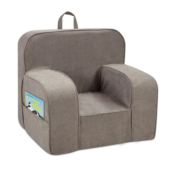 Cherry Kids Foam Chair with Handle and 2 Pockets by Zoomie Kids