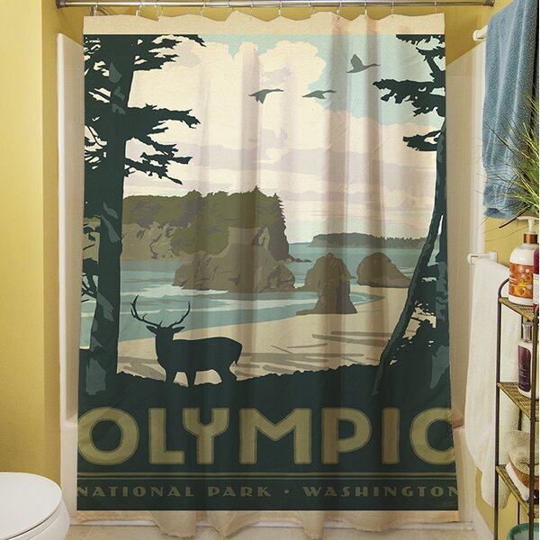 Olympic Shower Curtain by Manual Woodworkers & Weavers