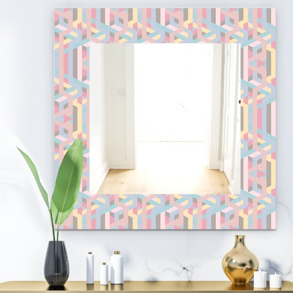 Pastel Dreams Modern Accent Mirror