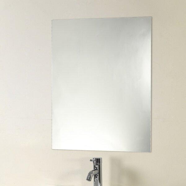 Rolle Frameless Wall Mirror by Orren Ellis