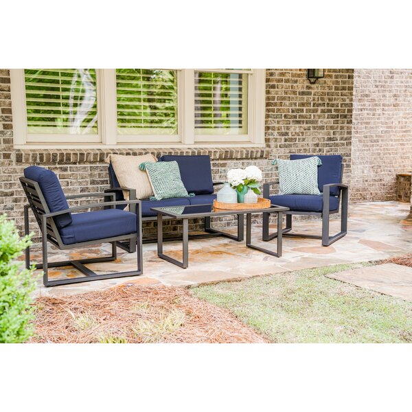 Surrency 4 Piece Sofa Seating Group with Cushions by Ivy Bronx
