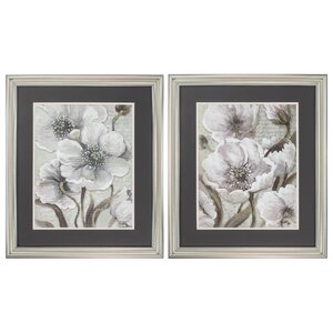 Scripted Beauty 2 Piece Framed Painting Print Set by Propac Images