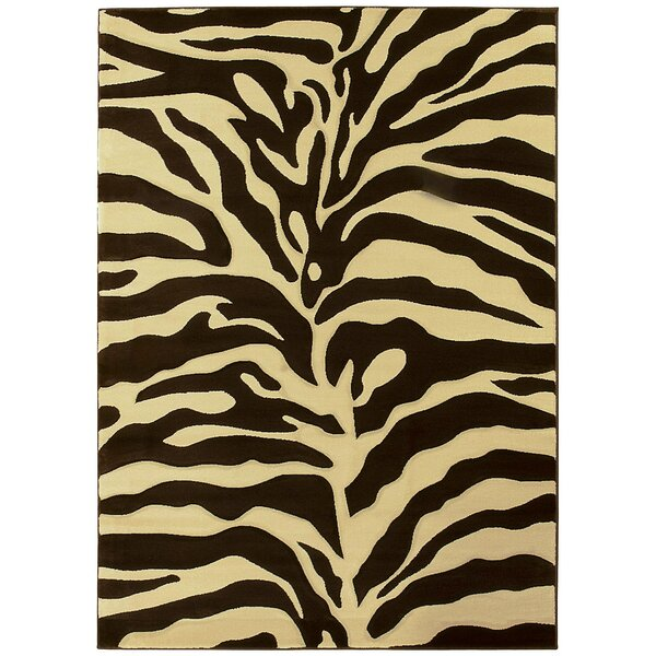 Esteban Hand-Carved Brown/Beige Area Rug by Bloomsbury Market