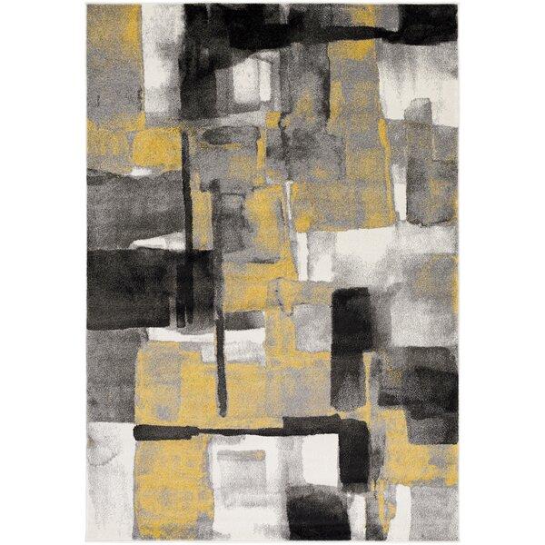 Devaney Mustard Area Rug by Ebern Designs