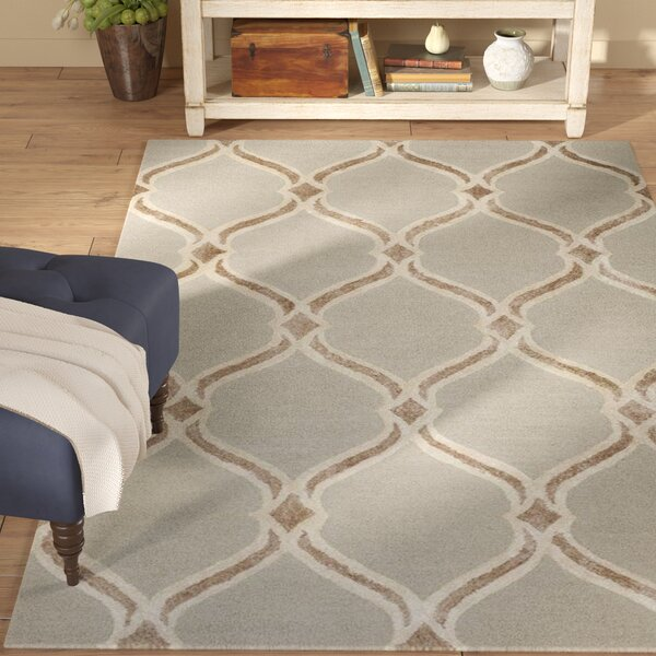 Garrison Hand-Tufted Taupe/Ivory Area Rug by Winston Porter
