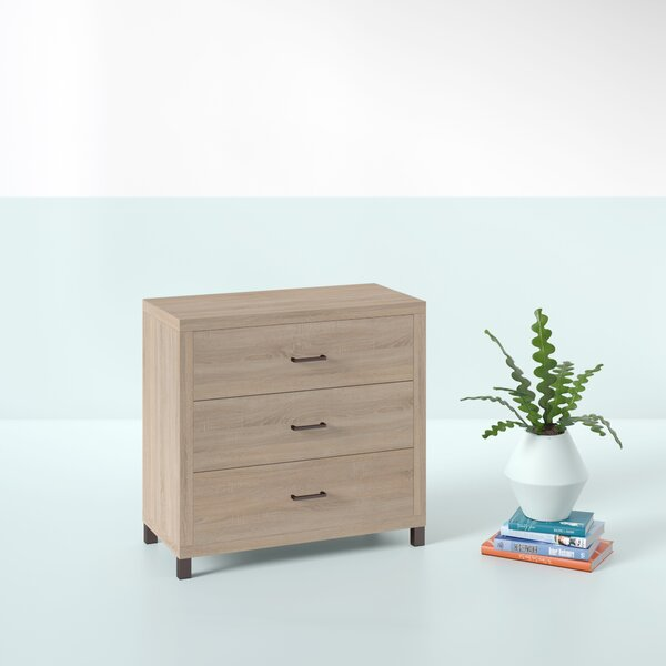 Edwidge 3 Drawer Chest by Hashtag Home