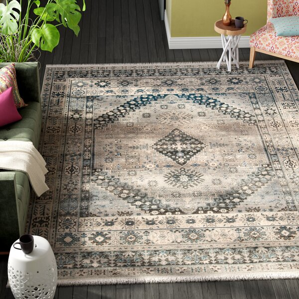 Egremont Vintage Persian Gray Area Rug by Bungalow Rose
