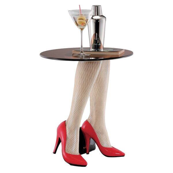 Fishnets and Heels Sculptural End Table by Design Toscano