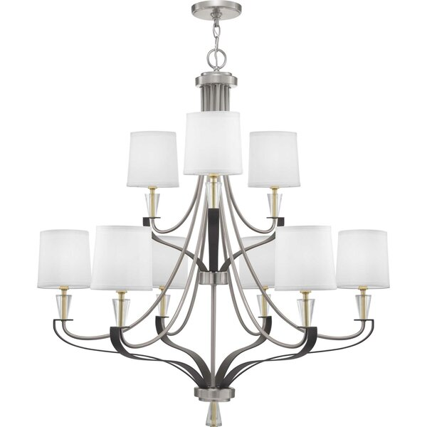 Alidade 9 - Light Candle Style Tiered Chandelier by Wrought Studio Wrought Studio