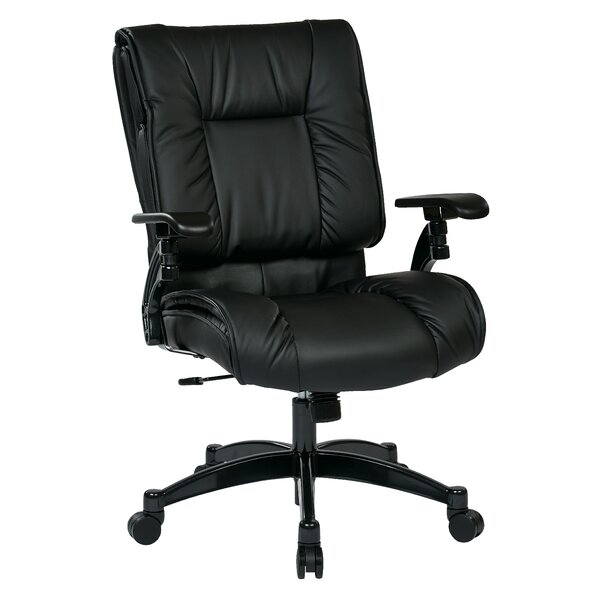 SPACE High-Back Leather Executive Chair by Office Star Products