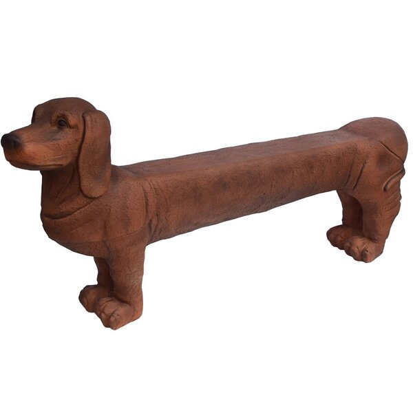 Seawright 1 Person Dog Cold Cast Stone Garden Bench by Red Barrel Studio