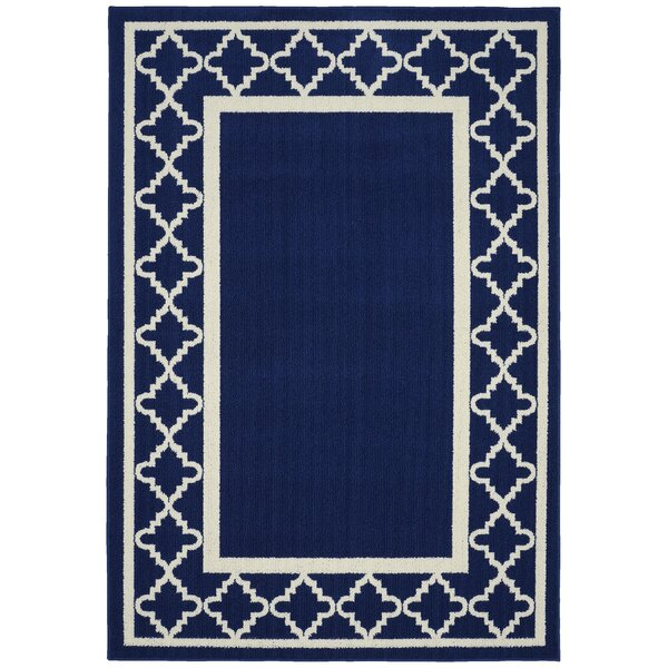 Moroccan Frame Indigo/Ivory Area Rug by Garland Rug