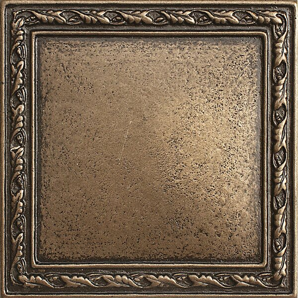 1 x 1 Olive Branch Deco Accent Tile in Bronze by Parvatile