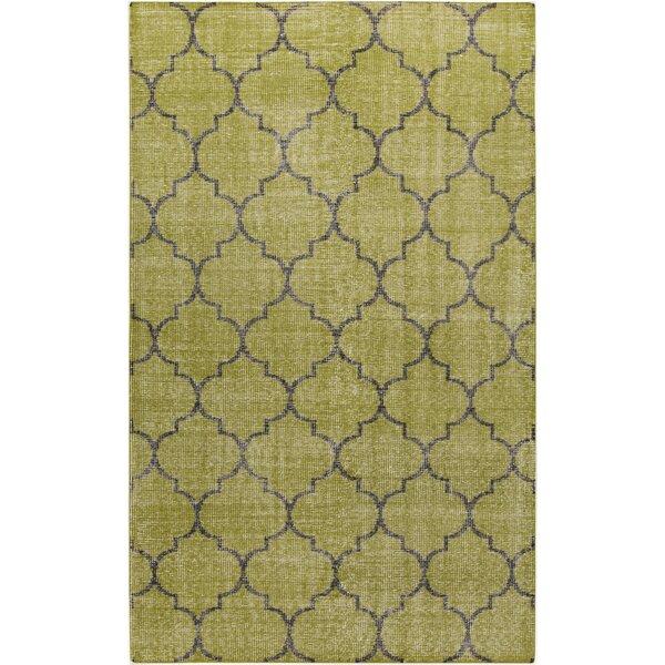 Casteel Geometric Olive Area Rug by Wrought Studio
