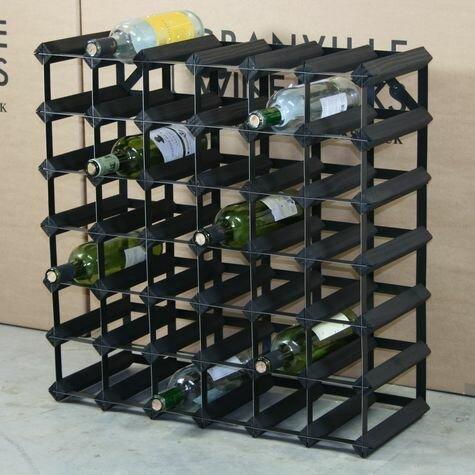 Weinregal Rita für 42 Fl. Urban Facettes Beschichtung: Schwarz gebeizt / Schwarzer Stahl | Küche und Esszimmer > Küchenregale | Urban Facettes