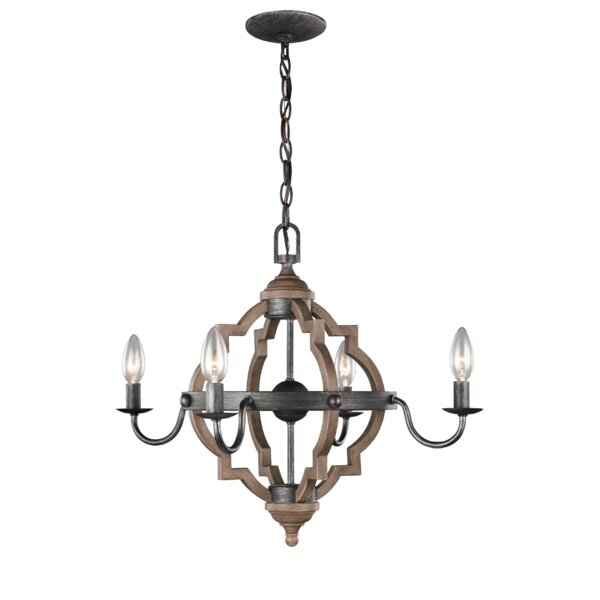 Donna 4-Light Candle Style Chandelier by Laurel Foundry Modern Farmhouse