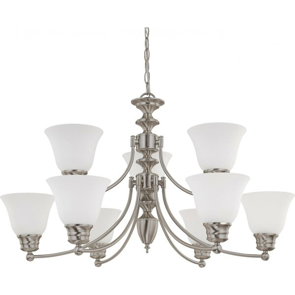 Poneto 9 - Light Shaded Tiered Chandelier By Charlton Home