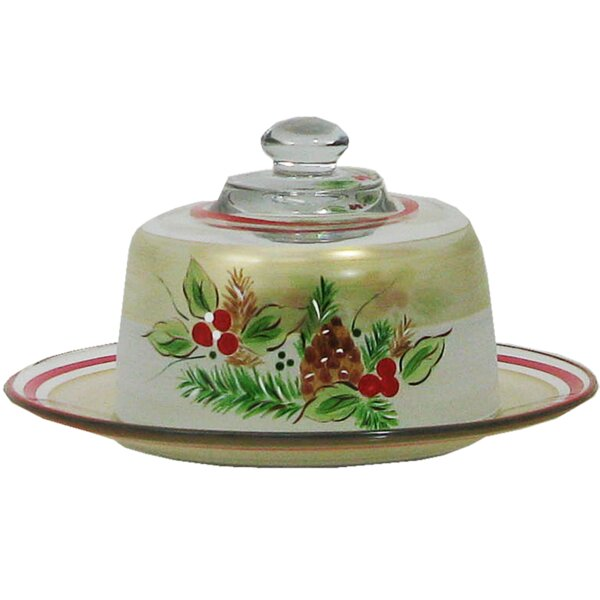 Ducharme Pine Cheese Dome Cake Stand by The Holiday Aisle