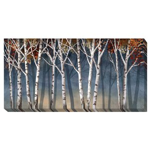 'Birch Shadows' by Conrad Knutsen Painting Print on Wrapped Canvas by Artistic Home Gallery