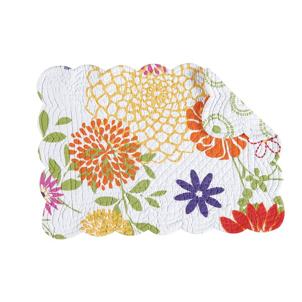 Lilly Reversible Quilt Placemat (Set of 6) by C&F Home