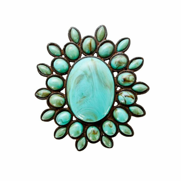 Turquoise Jewel Napkin Ring (Set of 4) by Silverado Home
