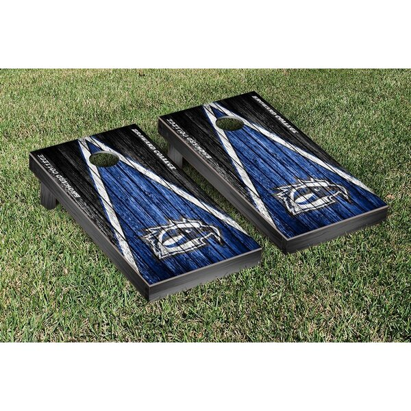 Broward Seahawks Triangle Weathered Version Cornhole Game Set by Victory Tailgate