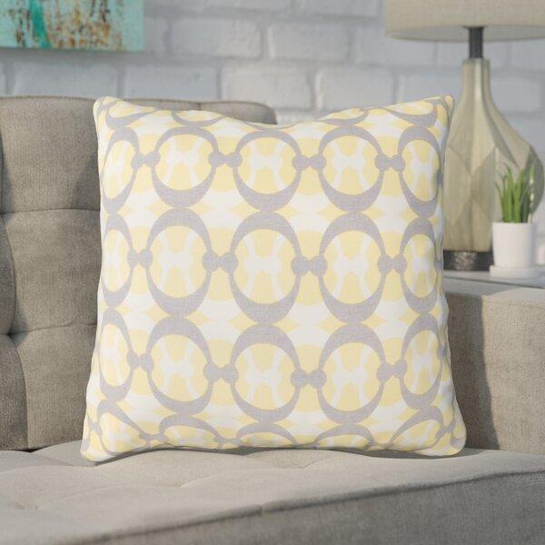 Clio Geometric Cotton Throw Pillow by Ivy Bronx