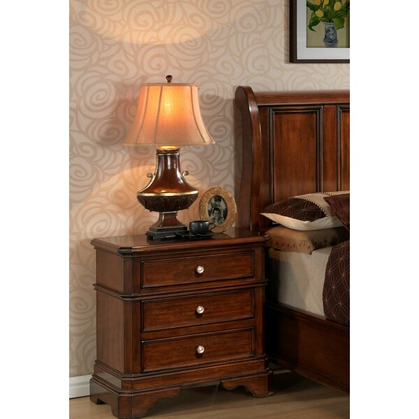Bayliss 3 Drawer Nightstand by Wildon Home®