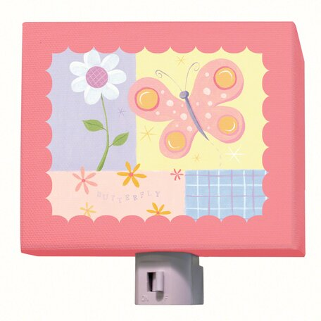 Butterfly Plaid Night Light by Oopsy Daisy