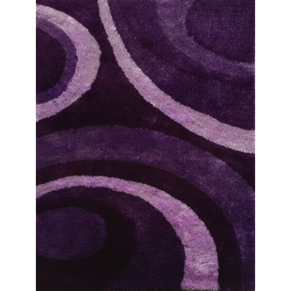 Quintanilla Hand-Knotted Purple Area Rug by Latitude Run