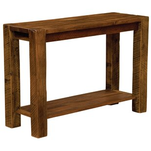 Barnwood Post Console Table By Fireside Lodge