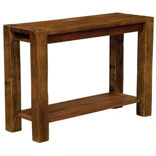 Barnwood Post Console Table ByFireside Lodge