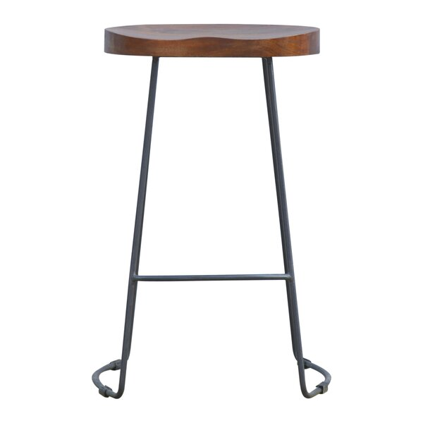 Criss Adjustable Height Bar Stool by 17 Stories