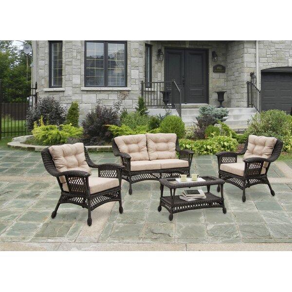 Procter 4 Piece Conversation Set with Cushions