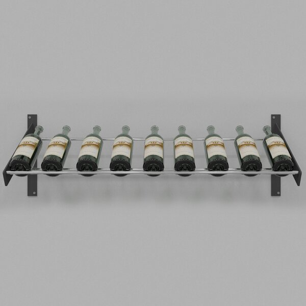 Idora 9 Bottle Wall Mounted Wine Bottle Rack by Rebrilliant Rebrilliant