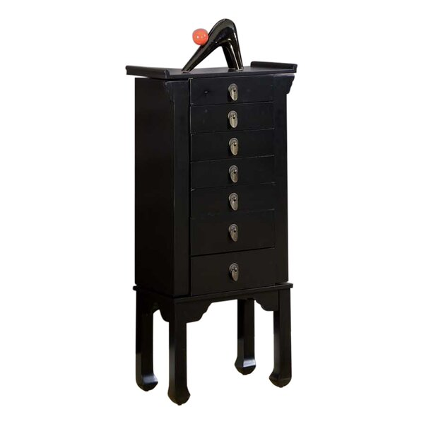 Ningbo Chinese Jewelry Armoire with Mirror by Wildon Home ®