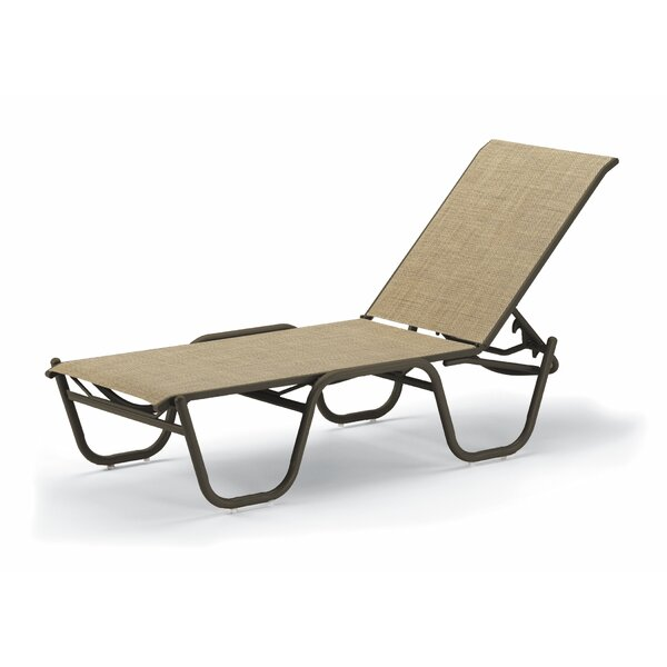 Reliance Sling Reclining Chaise Lounge (Set of 4) by Telescope Casual