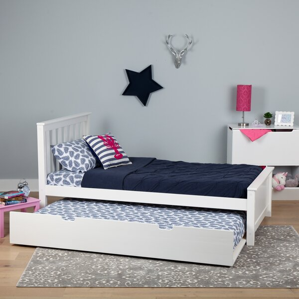 Boling Solid Wood Platform Bed with Trundle by Harriet Bee