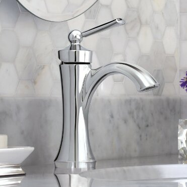 Wynford Single Hole Bathroom Faucet with Drain Ass
